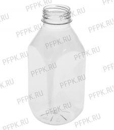 Бутылка 500мл ПЭТ квадратная без крышки д-р 38мм [100/100]
