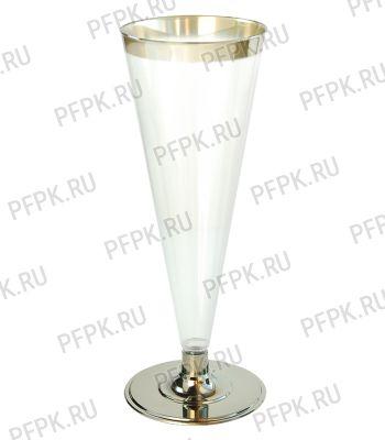 Бокал для шампанского 150мл. метал [уп. 6 шт.] ВИНТАЖ [1/54]