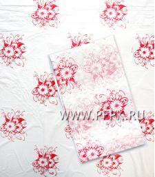 Скатерть 110х220 с рисунком ПНД Красные цветы [1/200]