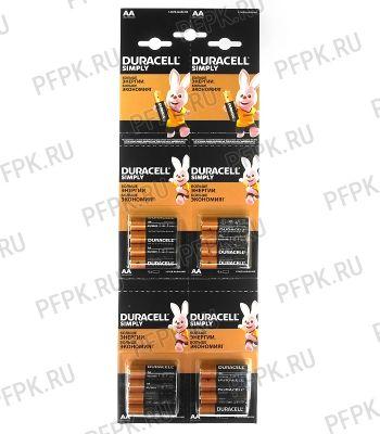 Батарейки DURACELL LR6 (АА) алкалин (блистер-отрыв 4 шт) [16/208]