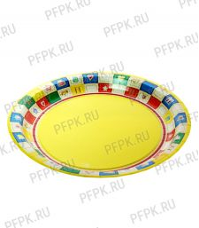 Тарелка бумажная 180мм Пикник [500/500]