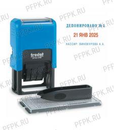 Датер самонаборный, 2 строки + дата, оттиск 41х24 мм, TRODAT 4755/4750 (230-555)