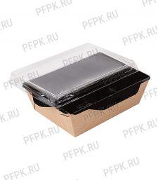 Емкость 400 мл  ECO OpSalad Black edition  (с крышкой) [400/400]