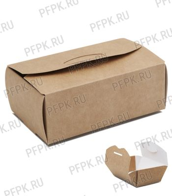 Коробка бум. для наггетсов 115х75мм h45мм крафт (M) 411-004 [100/300]