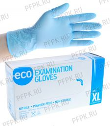 Перчатки нитриловые (уп. 200 шт/100 пар) XL (ECO-02-04) [1/10]