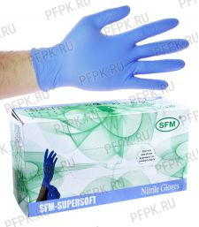 Перчатки нитриловые (уп. 200 шт/100 пар) M (SFM) [1/10]