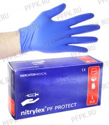 Перчатки нитриловые (уп. 200 шт/100 пар) L (Nitrylex PF PROTECT) [1/10]