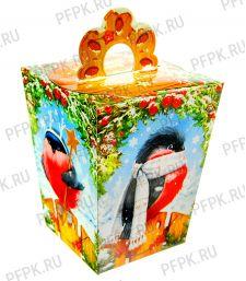 Коробка картон. 1200 гр Снегири [1/130]