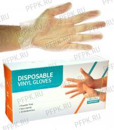 Перчатки виниловые (уп. 100 шт.) XL- DISPOSABLE GLOVES VINYL GLOVES [1/10]