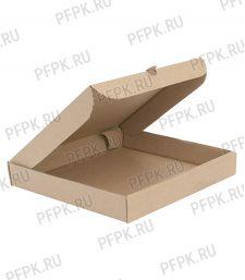 Коробка для пиццы 330х330х40 бурая [50/50]