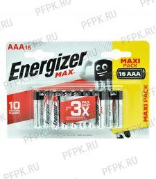 Батарейки ENERGIZER Max LR3 (ААА) алкалин  (блистер 16 шт) [16/96]