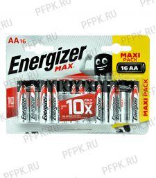 Батарейки ENERGIZER Max LR6 (АА) алкалин  (блистер 16 шт) [16/96]