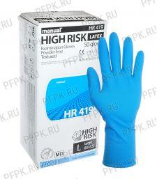 Перчатки латексные MANUAL HIGH RISK (Хай риск) L [25/250]