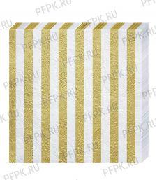 Салфетки бум. DESNA BOUQUET 33х33, 3-сл.,с рис. (16 листов) Барокко Полосы Золотые [1/12]