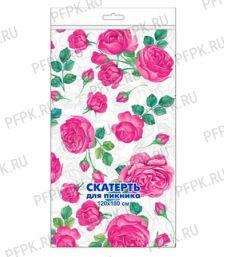 Скатерти 120х160 (рулон 5 шт.) Розовые розы [1/25]