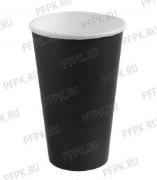 Стакан 400/473 мл SP16 бумажный Черный [50/1000]