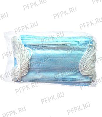 Маска защитная 3-х слойная,одноразовая (уп. 25шт) В пакете [1/80]