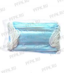 Маска защитная 3-х слойная,одноразовая (уп. 20шт) В пакете [1/100]