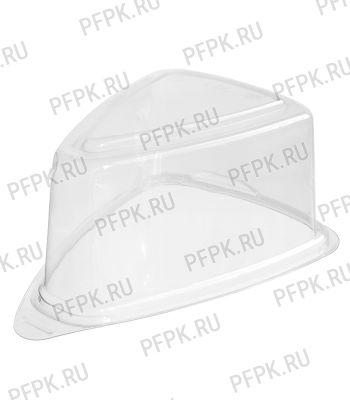 Тортница треугол. 123x88мм Т-2 КРЫШКА h85мм прозрачная КОМУС (крышка к Т-2) ПС [1/800]