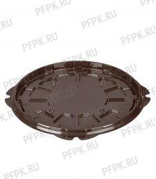 Тортница круг. d232мм Т-236 ДНО коричневая КОМУС (без крышки) ПС Шип [1/125]