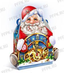Коробка картон. 1800 гр Дед Мороз с часами [1/50]