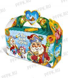 Коробка картон. 1400 гр Новогодняя [1/40]