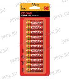Батарейки KODAK R6 (AA) солевые (блистер 11 шт) [11/264]