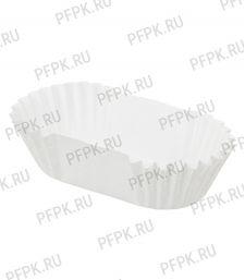 Форма бумажная овал 30х65х22,5 белая [1000/1000]