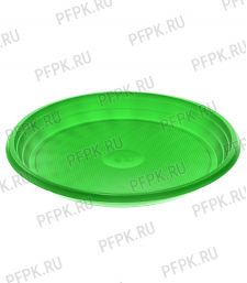 Тарелка 1-секционная ЦВ Зеленая ТР-20 Люкс [100/2000]