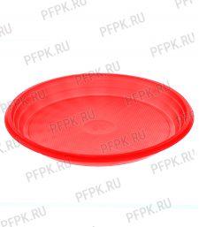 Тарелка 1-секционная ЦВ Красная ТР-20 Люкс [100/2000]