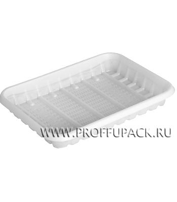 Лоток №2 белый, пластиковый КН-20 [100/2000]