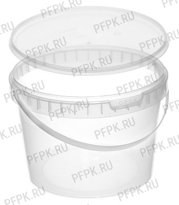 Ведро 2л прозрачное (с крышкой КБ-170) Прозрачная крышка [1/138]