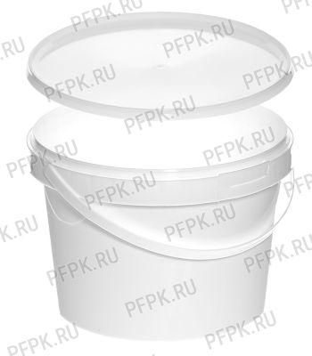 Ведро 2л белое (с крышкой КБ-170) [1/138]
