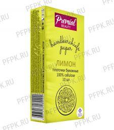 Платки носовые PREMIAL 3-слойные (уп.10 листов) Лимон [6/240]
