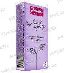 Платки носовые PREMIAL 3-слойные (уп.10 листов) Без запаха [6/240]