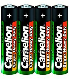 Батарейки CAMELION Super R3 (ААА) солевые (спайка 4 шт) [60/1200]
