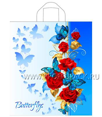 ДЖУЛЬЕТТА 38х42+3 (37мкм) ПНД, ТИКО Синие бабочки [50/300]