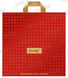 КОНЬЯК 40х40+4 (95мкм) матовый, SERIKOFF Подарочный премиум (красный-золотой) [25/400]