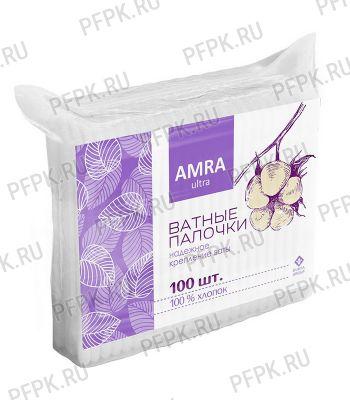 Ватные палочки AMRA (пакет 100 шт.) [1/52]