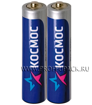 Батарейки КОСМОС R3 (AAA) солевые (спайка 2 шт) [60/600]