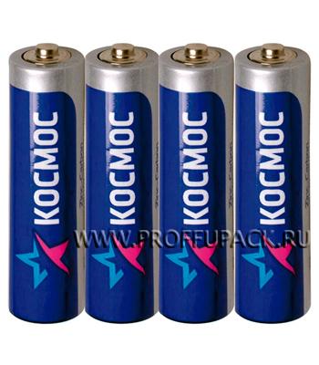 Батарейки КОСМОС R6 (АА) солевые (спайка 4 шт) [60/600]