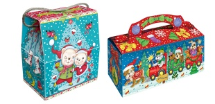 """Новогодние подарочные коробочки. Ассортимент упаковки """"Новый Год - 2014"""""""