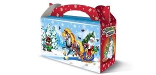 Подарочные новогодние товары 2014. Первые поставки коробок для сладких подарков