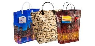 Полиэтиленовые цветные хозяйственные сумки