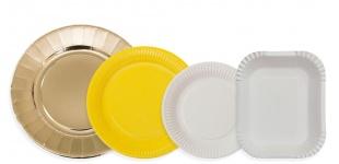Картонные тарелки в ассортименте